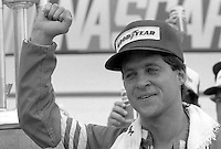 Greg Sacks victory lane Pepsi Firecracker 400 at Daytona International Speedway in Daytona Beach, FL on July 4, 1985. (Photo by Brian Cleary/www.bcpix.com)