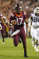 Landover, MD - September 3, 2017: Virginia Tech Hokies quarterback Josh Jackson (17) in action during game between Virginia Tech and WVA at  FedEx Field in Landover, MD.  (Photo by Elliott Brown/Media Images International)
