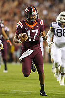 Landover, MD - September 3, 2017: Virginia Tech Hokies quarterback Josh Jackson (17) in action during game between Virginia Tech and WVA at  FedEx Field in Landover, MD.  (Photo by Elliott Brown/Media Images International)
