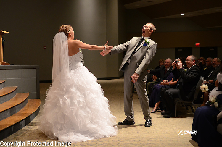 Dustin & Kelly Wilhelme wedding in Appleton, Wis., on November 7, 2014.