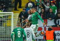 Josh Magennis (Nordirland, Northern Ireland) gegen Jonathan Tah (Deutschland Germany) - 19.11.2019: Deutschland vs. Nordirland, Commerzbank Arena Frankfurt, EM-Qualifikation DISCLAIMER: DFB regulations prohibit any use of photographs as image sequences and/or quasi-video.