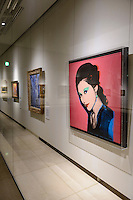 An Andy Warhol portrait (right) of Chieko Hasegawa, Executive Vice President of the Kasama Nichido Museum of Art, Kasama city, Ibaraki, Japan, May 10, 2013.