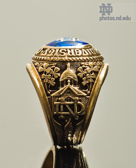 Oct. 24, 2013; Notre Dame Class Ring<br /> <br /> Photo by Matt Cashore/University of Notre Dame