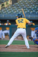 AZL Athletics Gold Sean Murphy (52) at bat during a rehab assignment in an Arizona League game against the AZL Rangers on July 15, 2019 at Hohokam Stadium in Mesa, Arizona. The AZL Athletics Gold defeated the AZL Athletics Gold 9-8 in 11 innings. (Zachary Lucy/Four Seam Images)