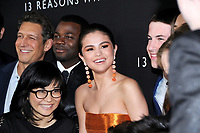 "30 March 2017 - Los Angeles, California - Selena Gomez.  Premiere Of Netflix's ""13 Reasons Why"" held at Paramount Studios in Los Angeles. Photo Credit: Birdie Thompson/AdMedia"