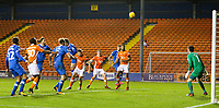 Portsmouth's Oliver Hawkins scores an own goal to make the score 2-2<br /> <br /> Photographer Alex Dodd/CameraSport<br /> <br /> The EFL Sky Bet League One - Blackpool v Portsmouth - Saturday 11th November 2017 - Bloomfield Road - Blackpool<br /> <br /> World Copyright &copy; 2017 CameraSport. All rights reserved. 43 Linden Ave. Countesthorpe. Leicester. England. LE8 5PG - Tel: +44 (0) 116 277 4147 - admin@camerasport.com - www.camerasport.com