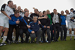 Gretna 2 Alloa Athletic 1, 25/03/2006. Raydale Park, Scottish Second Division.The result confirmed Gretna as Scottish Second Division Champions. Photo by Paul Thompson. Gretna 2 Alloa Athletic 1, 25/03/2006. Raydale Park, Scottish Second Division. The result confirmed Gretna as Scottish Second Division Champions. Nicknamed the Black and Whites or the Anvils, Gretna was founded in 1946, and had rapid and continual success due to financial backing from businessman Brooks Mileson in the mid-2000s. Despite being based in England Gretna were elected to the Scottish League in 2002, and reached the Scottish Cup Final in 2006, but the club fell into severe financial difficulties when Mileson withdrew funds due to ill health. The club was forced to dissolve in 2008 due to money issues.A pheonix club, Gretna 2008, was accepted into the East of Scotland Football League on 11 July 2008.  Photo by Paul Thompson.