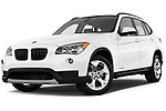 Low aggressive front three quarter view of a 2013 BMW X1 sDrive28i