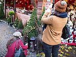 © Joel Goodman - 07973 332324 . 21 November 2013 . Manchester , UK . Two women with camera phones photographing the displays . Candid photos of the Christmas Markets in Manchester City Centre . Photo credit : Joel Goodman
