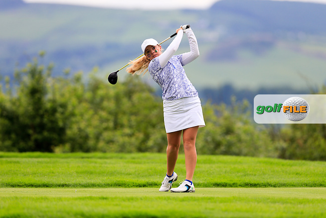 Bronte Law during Sunday Singles matches at the 2016 Curtis cup from Dun Laoghaire Golf Club, Ballyman Rd, Enniskerry, Co. Wicklow, Ireland. 12/06/2016.<br /> Picture Fran Caffrey / Golffile.ie<br /> <br /> All photo usage must carry mandatory copyright credit (&copy; Golffile | Fran Caffrey)