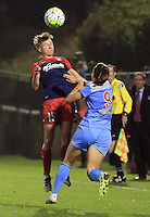 Boyds, MD - Friday Sept. 30, 2016: Joanna Lohman, Stephanie McCaffrey during a National Women's Soccer League (NWSL) semi-finals match between the Washington Spirit and the Chicago Red Stars at Maureen Hendricks Field, Maryland SoccerPlex. The Washington Spirit won 2-1 in overtime.
