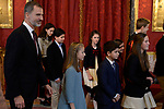 King Felipe VI of Spain and Princess Leonor of Spain attend the Order of Golden Fleece (Toison de Oro), ceremony at the Royal Palace. January 30,2018. (ALTERPHOTOS/Pool)