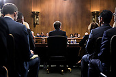 UNITED STATES - SEPTEMBER 27: Judge Brett Kavanaugh testifyies during the Senate Judiciary Committee hearing on his nomination be an associate justice of the Supreme Court of the United States, focusing on allegations of sexual assault by Kavanaugh against Christine Blasey Ford in the early 1980s. (Photo By Tom Williams/CQ Roll Call/POOL)