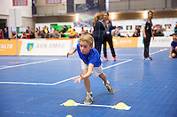 Rotterdam, Netherlands, December 19, 2015,  Topsport Centrum, Lotto NK Tennis, ABNAMROWTT Ballenkinderen selectiedag<br /> Photo: Tennisimages/Henk Koster