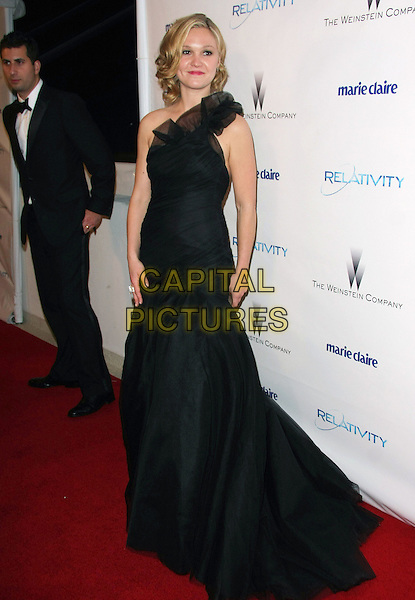 JULIA STILES .Relativity Weinstein Company 68th Annual Golden Globe Awards After Party Presented by Marie Claire held at the Beverly Hilton, Beverly Hills, California, USA..January 16th, 2011.full length one shoulder dress gown maxi black ruffle sheer tulle .CAP/ADM/TB.©Tommaso Boddi/AdMedia/Capital Pictures.