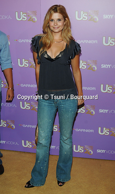 Joanna Garcia arriving at the US Weekly's Young Holywood Hot 20 at the LAX Club in Los Angeles. September 16, 2005.