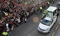 BOGOTA -COLOMBIA , 6- 09-2017.Llegada del Papa Francsico a la capital colombiana./Arrival of Pope Francisco to the Colombian capital. Photo: VizzorImage / Felipe Caicedo / Staff