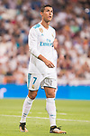 Real Madrid's Cristiano Ronaldo during XXXVIII Santiago Bernabeu Trophy at Santiago Bernabeu Stadium in Madrid, Spain August 23, 2017. (ALTERPHOTOS/Borja B.Hojas)