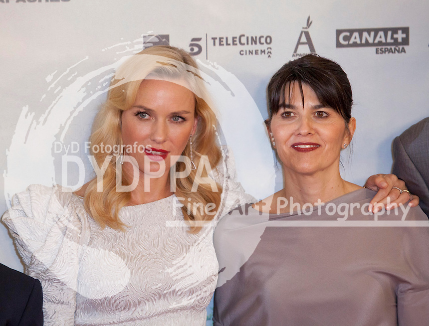 "08/10/2012 Madrid, Spain, Cine Kinepolis, Premiere ""The Impossible"" ""Lo Imposible"", Naomi Watts, Maria Belóna (woman in that based this one the movie), (C) Nacho Lopez/ DyD Fotografos"