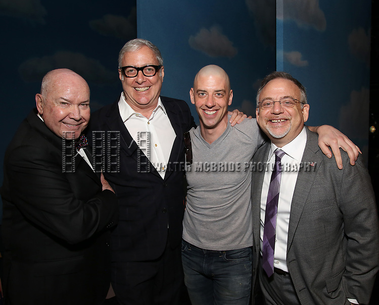 Jack O'Brien, Scott Wittman, Christian Borle and Marc Shaiman during the Actors' Equity Gypsy Robe Ceremony honoring Katie Webber for  'Charlie and the Chocolate Factory' at the Lunt-Fontanne Theatre on April 23, 2017 in New York City.