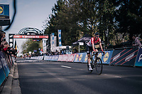 race winner Tim Wellens (BEL/Lotto-Soudal) rolling in<br /> <br /> 58th De Brabantse Pijl 2018 (1.HC)<br /> 1 Day Race: Leuven - Overijse (BEL/202km)