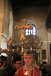 Bethlehem, Greek Orthodox Christmas ceremony at the Church of the Nativity