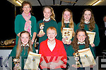 AWARDS: First year students who were presented with their awards at the Causeway Comprehensive School Awards on Thursday evening. Front l-r: Clodagh O'Carroll,Eileen Donegan (presenter) and Ruby O'Riordan. Back l-r, Katherine Broderick (presenter), Kerrie Daley,Erin Stack and Sarah O'Sullivan.