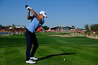 Lorenzo Gagli (ITA) on the 9th tee during the 2nd round of the Abu Dhabi HSBC Championship, Abu Dhabi Golf Club, Abu Dhabi,  United Arab Emirates. 17/01/2020<br /> Picture: Fran Caffrey   Golffile<br /> <br /> <br /> All photo usage must carry mandatory copyright credit (© Golffile   Fran Caffrey)