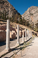 Stoa of the Athenians, Delphi, Greece
