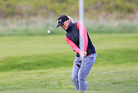 Romy Meekers (NED) chips onto the 17th green during Round 3 of the Irish Women's Open Stroke Play Championship 2018 on Saturday 13th May 2018.<br /> Picture:  Thos Caffrey / Golffile<br /> <br /> All photo usage must carry mandatory copyright credit (&copy; Golffile | Thos Caffrey)