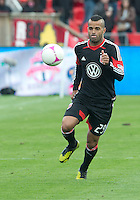 06 October 2012: D.C. United forward Maicon Santos #29 in action during an MLS game between D.C. United and Toronto FC at BMO Field in Toronto, Ontario..D.C. United won 1-0..