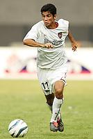 The MetroStars' Pablo Brenes. D.C. United defeated the NY/NJ MetroStars 6 to 2 at RFK Stadium, Washington, D.C., on July 3, 2004.