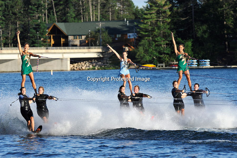 Min-Aqua Bats have been entertaining crowds with their premier water ski shows for 60 years from their location on Lake Minocqua, WI.