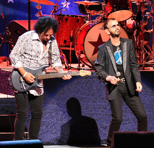 New York,NY-June 18: Steve Lukather, Ringo Starr attends Ringo Starr and his all star band at the Beacon Theater in New York City on June 18, 2014. Credit: John Palmer/MediaPunch