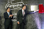 King Felipe VI of Spain (r) in presence of Alvaro Fernandez, General Manager of Alfa, visits the new factory of Campofrio in Burgos. November 23, 2016.(ALTERPHOTOS/Acero)
