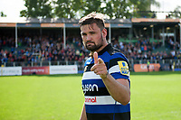 Elliott Stooke of Bath Rugby after the match. Aviva Premiership match, between Bath Rugby and Saracens on September 9, 2017 at the Recreation Ground in Bath, England. Photo by: Patrick Khachfe / Onside Images