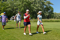 Ariya Jutanugarn (THA) and Danielle Kang (USA) head dwon 17 during round 2 of the 2018 KPMG Women's PGA Championship, Kemper Lakes Golf Club, at Kildeer, Illinois, USA. 6/29/2018.<br /> Picture: Golffile | Ken Murray<br /> <br /> All photo usage must carry mandatory copyright credit (&copy; Golffile | Ken Murray)