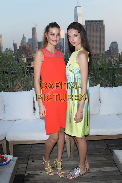 NEW YORK, NY - JULY 29: Luna Bijl and Sophie Jones attend the ICB Fall Digital Campaign Launch And Summer Celebrationon at Azul at Hotel Hugo on  July 29 2015 in New York City. <br /> CAP/MPI/MPI99<br /> &copy;MPI99/MPI/Capital Pictures