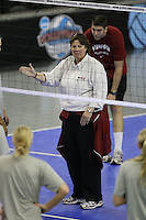 15 December 2007: Stanford Cardinal associate head coach Denise Corlett during Stanford's 2007 NCAA Division I Women's Volleyball Final Four closed practice at ARCO Arena in Sacramento, CA.