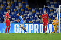 Hirving Lozano of SSC Napoli celebrates after scoring the goal of 1-1 for his side <br /> Napoli 05-11-2019 Stadio San Paolo <br /> Football Champions League 2019/2020 Group E<br /> SSC Napoli - FC Salzburg<br /> Photo Antonietta Baldassarre / Insidefoto