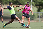 CARY, NC - MAY 10: Rosana (8) and Debinha (10). The North Carolina Courage held a training session on May 10, 2017, at WakeMed Soccer Park Field 7 in Cary, NC.