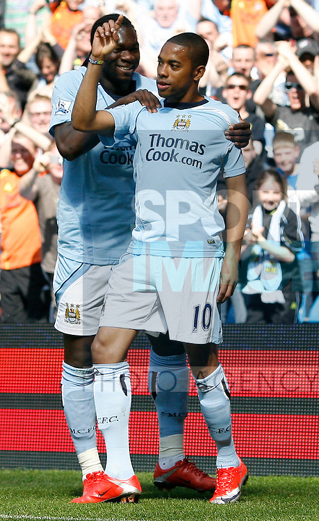 Manchester City's Robinho celebrates after he scores his sides 1st goal
