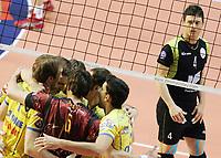 esultanza di Andre' Heller, Luca Tencati, Ricardo Garcia, Andre' Nascimento (Modena), Manuel Coscione (Roma)<br /> <br /> M.Roma Volley vs Cimone Modena 3-2<br /> <br /> Campionato di Pallavolo serie A 2007/2008.<br /> <br /> PalaTiziano, Roma, 17 Febraio 2008.<br /> <br /> Photo Antonietta Baldassarre Insidefoto