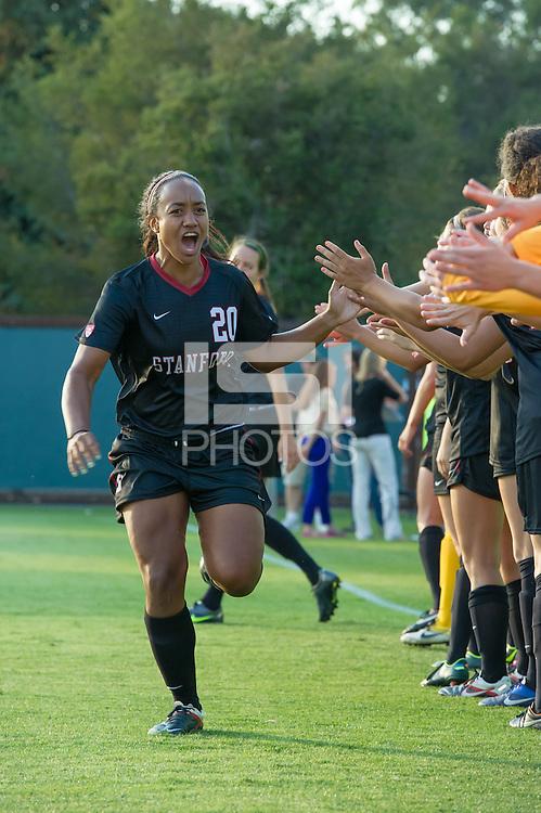 STANFORD, CA - August 17, 2012: Stanford vs Santa Clara in a women's soccer match in Stanford, California. Stanford won 6-1.