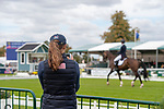 Stamford, Lincolnshire, United Kingdom, 5th September 2019, A USA team member videos Ariel Grald (USA) & Leamore Master Plan during the Dressage Phase on Day 1 of the 2019 Land Rover Burghley Horse Trials, Credit: Jonathan Clarke/JPC Images