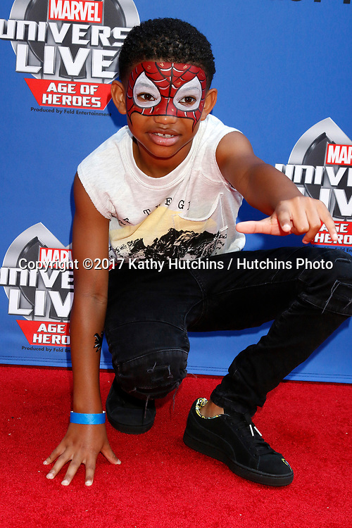 LOS ANGELES - JUL 8:  Lonnie Chavis at the Marvel Universe Live Red Carpet at the Staples Center on July 8, 2017 in Los Angeles, CA