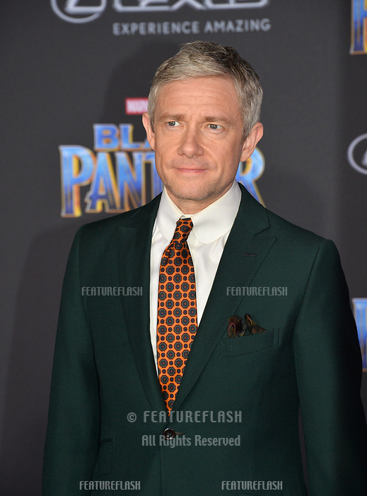 Martin Freeman at the world premiere for &quot;Black Panther&quot; at the Dolby Theatre, Hollywood, USA 29 Jan. 2018<br /> Picture: Paul Smith/Featureflash/SilverHub 0208 004 5359 sales@silverhubmedia.com