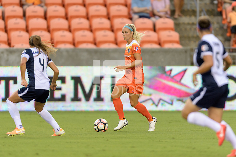 Houston, TX - Saturday July 15, 2017: Rachel Daly during a regular season National Women's Soccer League (NWSL) match between the Houston Dash and the Washington Spirit at BBVA Compass Stadium.
