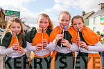 Aoife Cremin, Caitlin O'Connor, michelle and Orla Cronin whistleing the snakes away at the Rathmore St Patricks parade on Sunday