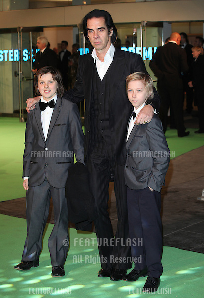 Nick Cave and sons arriving for The hobbit Premiere, Odeon Leicester Square, London. 12/12/2012 Picture by: Alexandra Glen / Featureflash